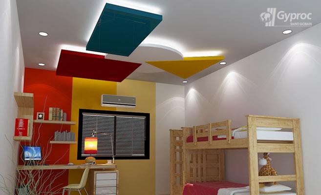 False ceiling designs for kids room saint gobain gyproc for Children bedroom designs india