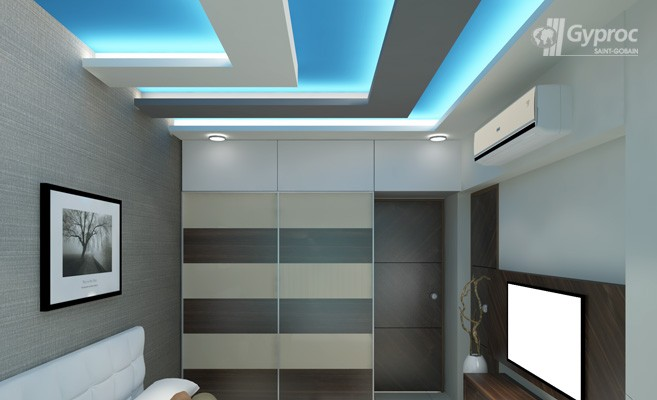 False Ceiling Drywall SaintGobain Gyproc India   Design Of False Ceiling  For Bedroom