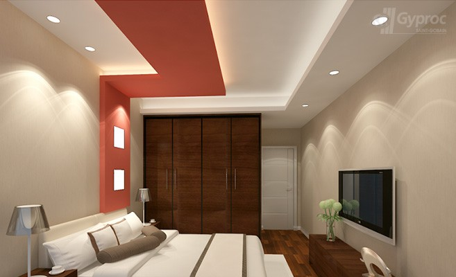 False ceiling designs for bedroom saint gobain gyproc india for Ceilings for bedrooms