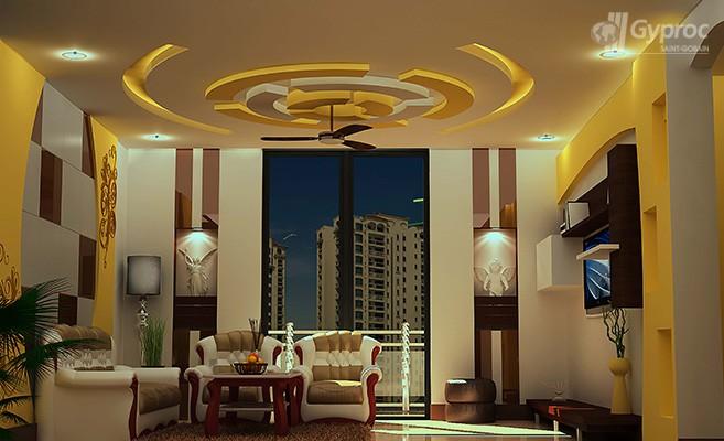 False Ceiling Designs For Living Room Saint Gobain