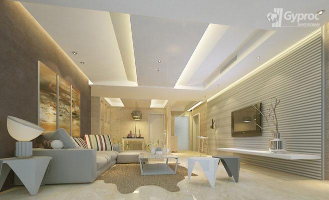 False Ceiling Designs For Living Room   Saint-Gobain ...
