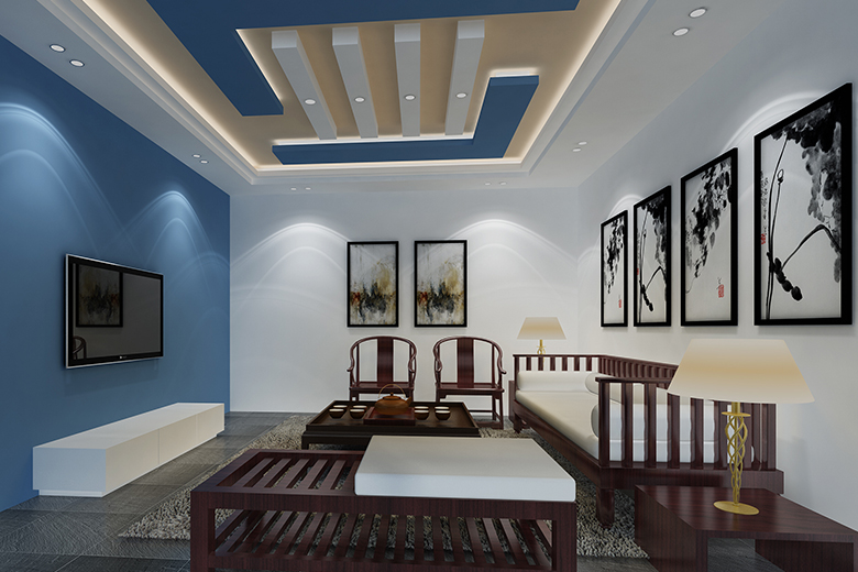 Gypsum Ceiling Designs for Hall Provide Thermal Insulation