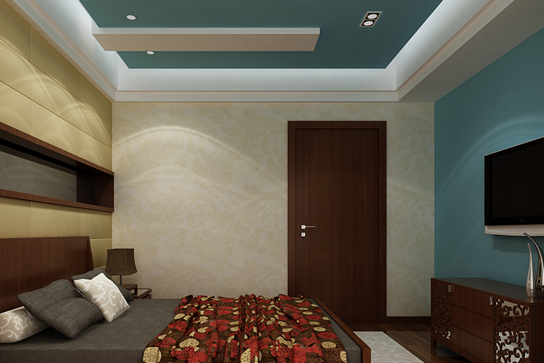 Gypsum Board Ceiling Design Provides Noise Protection