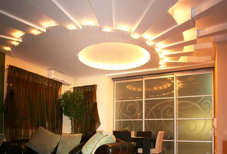 lighting ideas for living room without ceiling lights - False Ceiling Gypsum Board Drywall