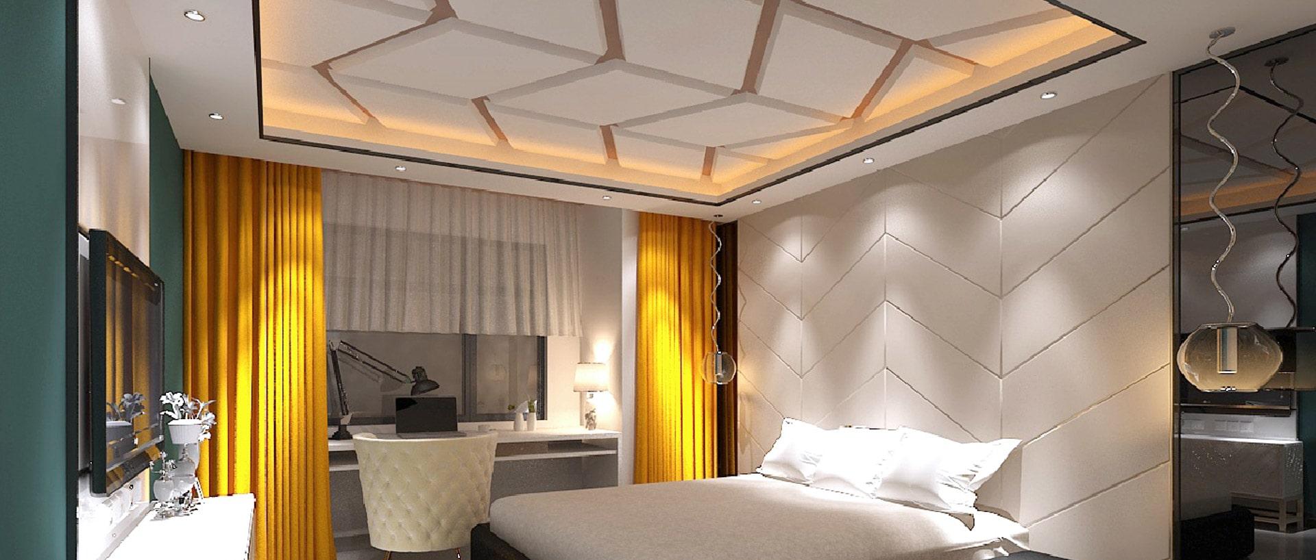 10 Modern Gypsum Bedroom Ceiling Design Photos   Catholique Ceiling