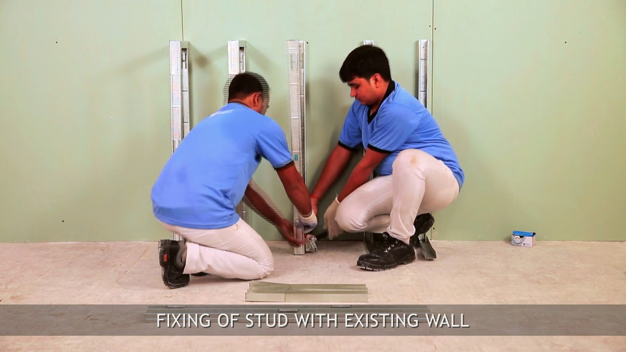 Fixing Metal Stud With Existing Wall