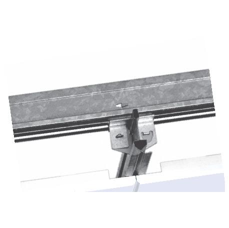GI Metal Ceiling Clip in Plain Beveled Edge Global White Color Tiles