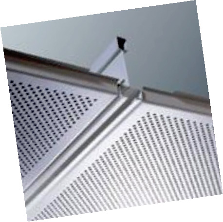 GI Metal Ceiling Lay in Perforated Tegular Edge Global White Color Tiles