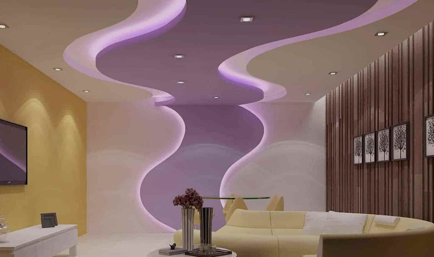 modern ceiling design for living room