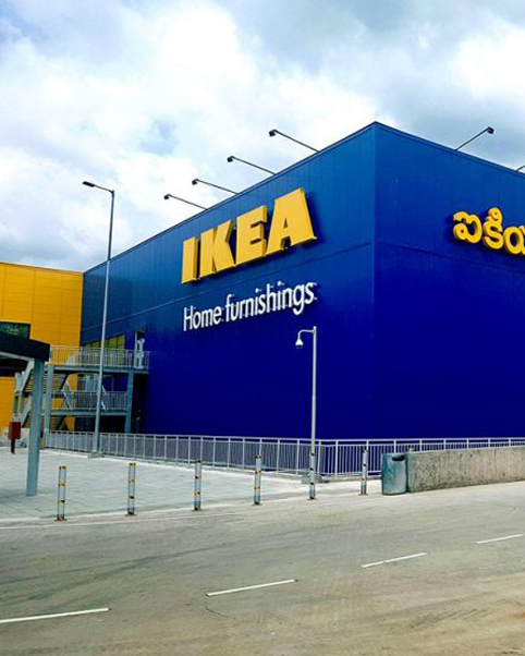 Gyproc Drywall Construction in IKEA