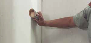 Step 6 to install levelline CT corner